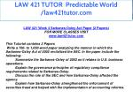law 421 tutor predictable world law421tutor com 17