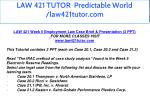 law 421 tutor predictable world law421tutor com 18