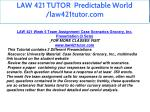 law 421 tutor predictable world law421tutor com 20