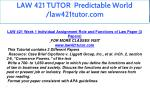 law 421 tutor predictable world law421tutor com 5