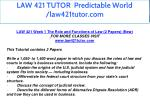 law 421 tutor predictable world law421tutor com 6