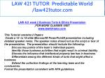 law 421 tutor predictable world law421tutor com 7