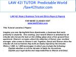 law 421 tutor predictable world law421tutor com 8