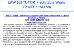 law 531 tutor predictable world law531tutor com 12