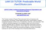 law 531 tutor predictable world law531tutor com 15