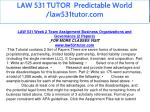 law 531 tutor predictable world law531tutor com 16
