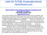 law 531 tutor predictable world law531tutor com 17