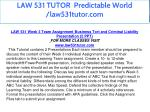 law 531 tutor predictable world law531tutor com 21