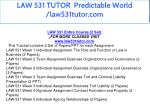 law 531 tutor predictable world law531tutor com 7