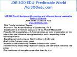 ldr 300 edu predictable world ldr300edu com 11