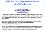 ldr 300 edu predictable world ldr300edu com 2