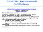 ldr 300 edu predictable world ldr300edu com 20