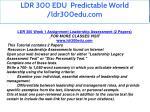 ldr 300 edu predictable world ldr300edu com 3