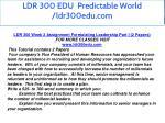 ldr 300 edu predictable world ldr300edu com 6