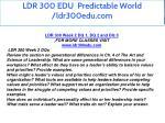 ldr 300 edu predictable world ldr300edu com 8
