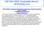ldr 300 help predictable world ldr300help com 11