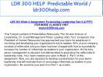 ldr 300 help predictable world ldr300help com 15
