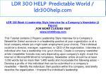 ldr 300 help predictable world ldr300help com 18