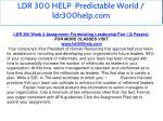 ldr 300 help predictable world ldr300help com 6
