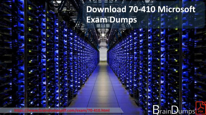 https www braindumpspdf com exam 70 410 html n.