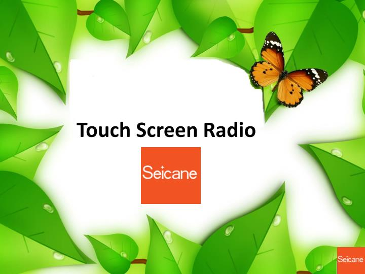 touch screen radio n.