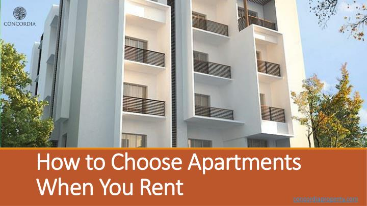 how to choose apartments when you rent n.