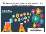 big data and analytics services in north america sap business intelligence services
