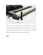 pianica is a very easy instrument it is the form