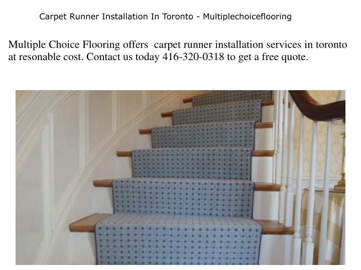 carpet runner installation in toronto n.