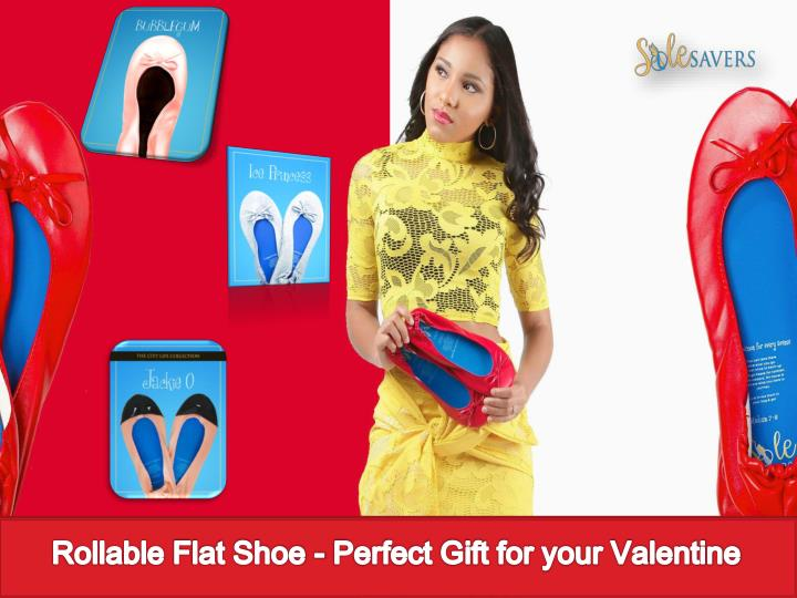 rollable flat shoe perfect gift for your valentine n.
