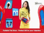 rollable flat shoe perfect gift for your valentine