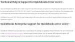 technical help support for quickbooks error 12007