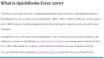 what is quickbooks error 12007