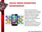 social media marketing management