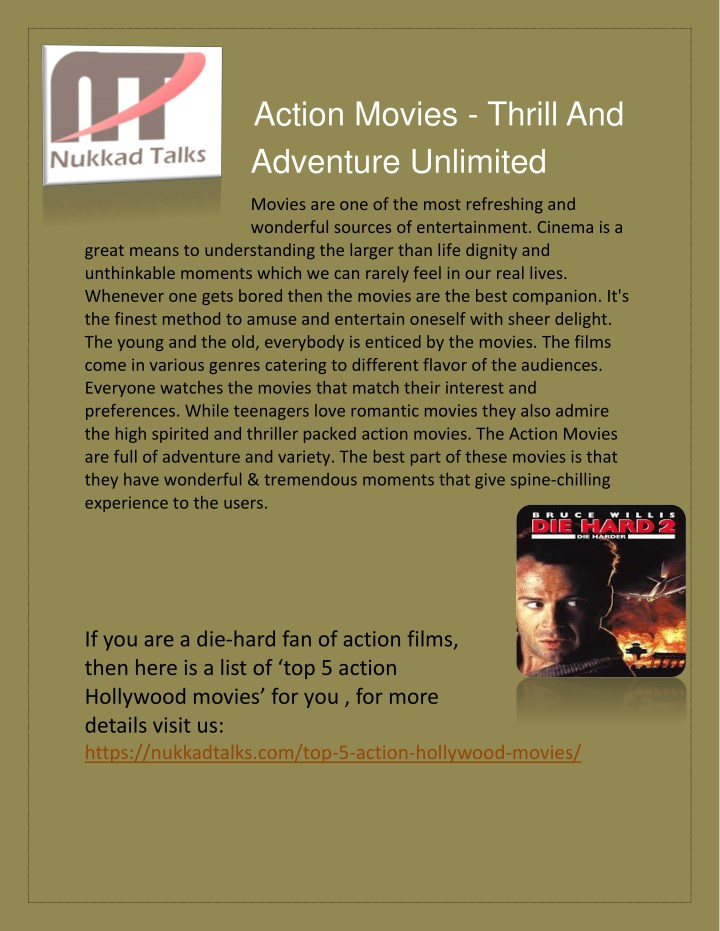 action movies thrill and adventure unlimited n.
