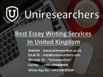 best essay writing services in united kingdom