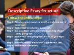descriptive essay structure