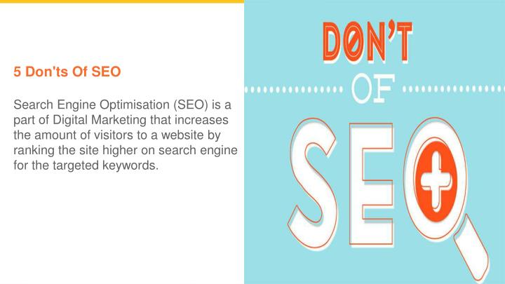 5 don ts of seo search engine optimisation n.