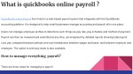 what is quickbooks online payroll