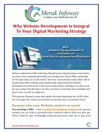 why website development is integral to your