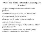 why you need inbound marketing to survive