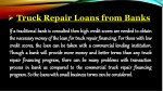 truck repair loans from banks