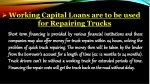 working capital loans are to be used