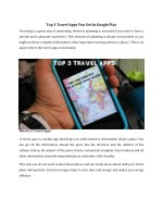 top 3 travel apps you get in google play