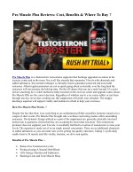 pro muscle plus reviews cost benefits where to buy
