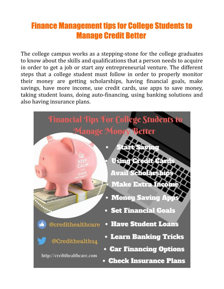 finance management tips for college students n.