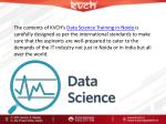 the contents of kvch s data science training