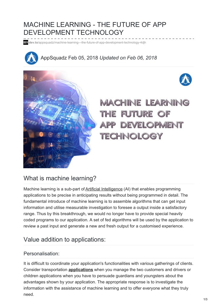 machine learning the future of app development n.