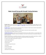 make yourself strong with strength training