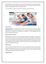 spinning exercises is a low impact and a low risk